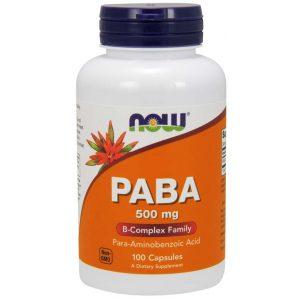 PABA 500mg NOW