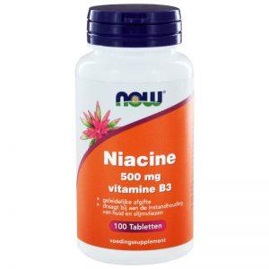 Niacine 500 mg vitamine B3 now