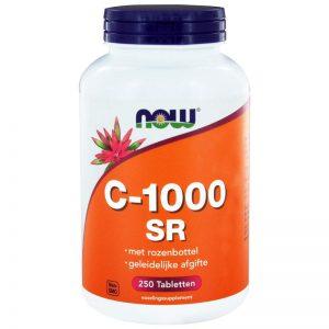 Vitamine C-1000 SR Rozebottel NOW