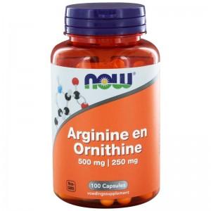 Arginine & Ornithine NOW 500/250 100cap
