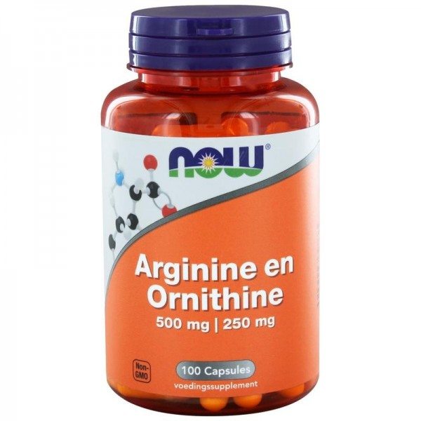 Arginine & Ornithine NOW 500/250 100cap