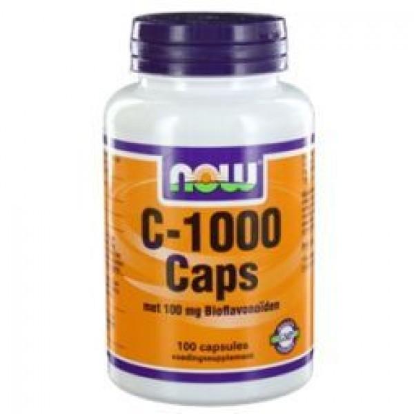 Vitamine C 1000mg bioflav NOW 100cap-0