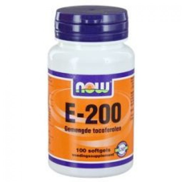 Vitamine E200iu Mixed tocop NOW 100sft-0