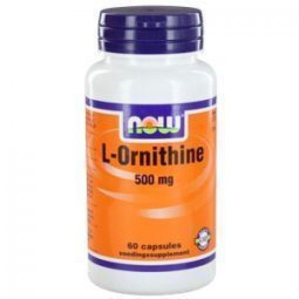 L Ornithine 500mg NOW 60cap-0