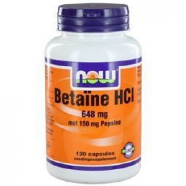 Betaine HCL 648mg NOW 120cap-0