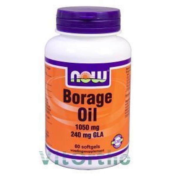 Borage Oil 1050mg NOW 60soft-0
