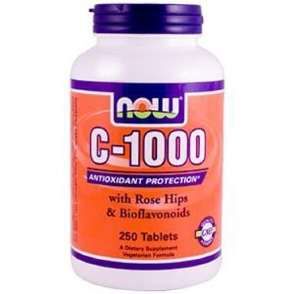 Vitamine C-1000 Rose Hips NOW 250tab-0