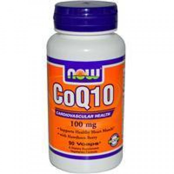 Co-Q10 100mg & Hawthorn Berry NOW 30vc-0