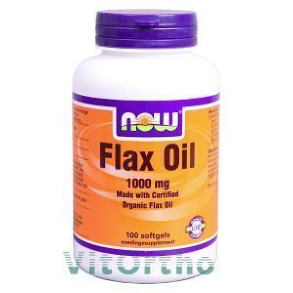 Lijnzaadolie/ Flax Oil 1000mg NOW 100sft-0