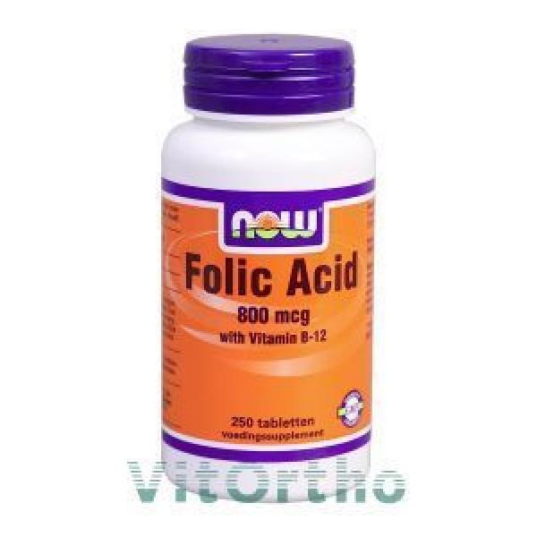 Foliumzuur NOW 800mcg 250tab-0