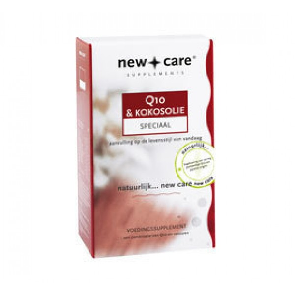 Kokosolie en Q10 50mg New Care 150cap-0
