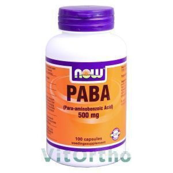 PABA 500mg NOW 100cap-0