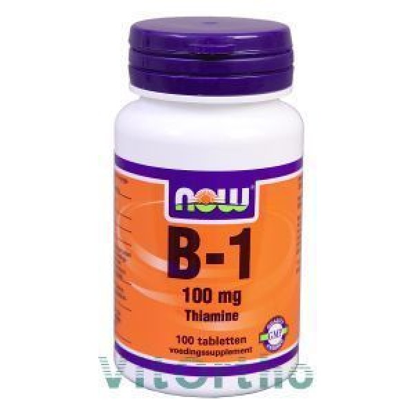 Vitamine B1 100mg NOW 100tab-0