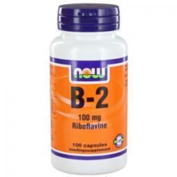 Vitamine B2 100mg NOW 100cap -0