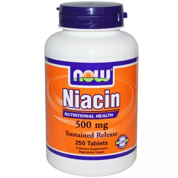 Vitamine B3 Niacine 500mg tr NOW 100tab-0