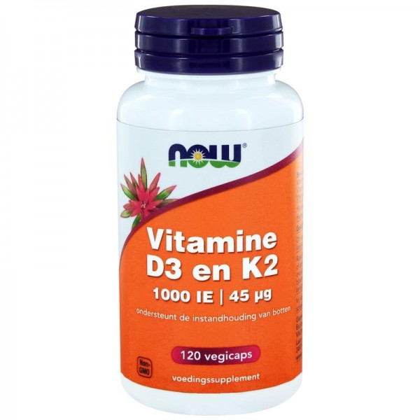 Vitamine D3 1000IE & K2 NOW 120cap