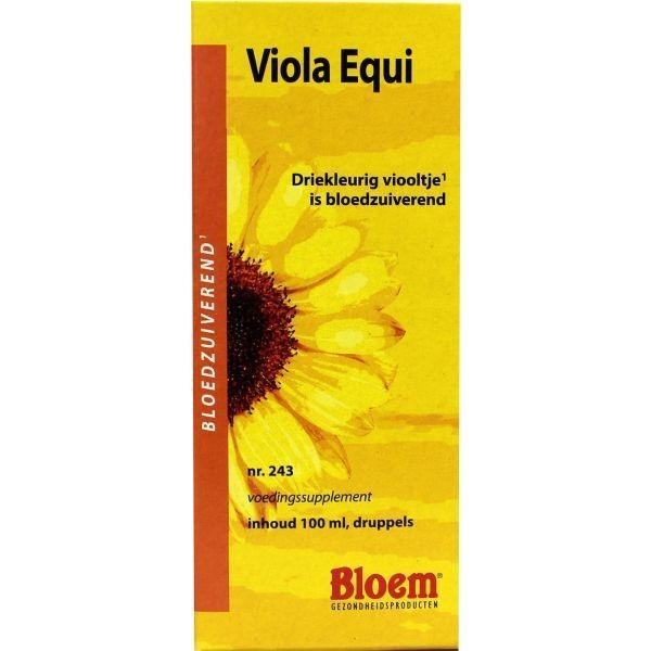 Viola equi bloem