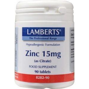 Zink (zinc) citraat 15 mg lamberts