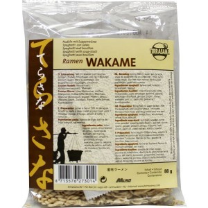 Ramen wakame noodles