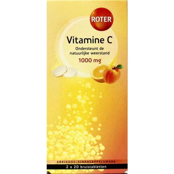 Vitamine C 1000mg sinaasappel & abrikoos duo