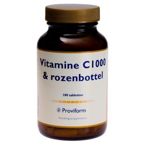 Vitamine C 1000 & rozenbottels