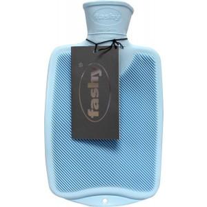 Kruik warm water zak half blauw