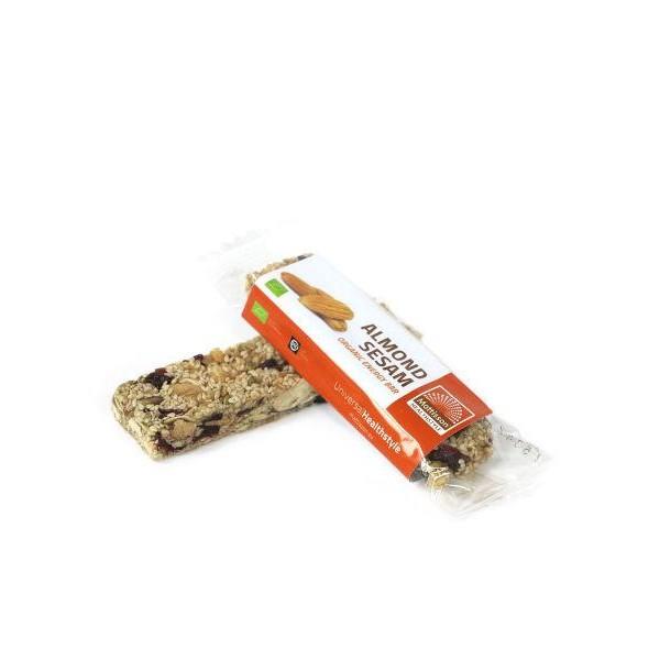 Organic energy bar almond sesam