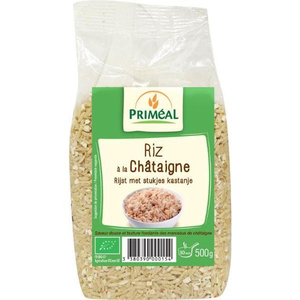 Rijst met stukjes kastanje