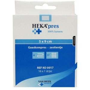 Hydrofiel gaaskompres 5 x 9