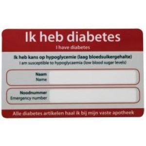 Diabetes noodkaart Zorgtotaal 10st