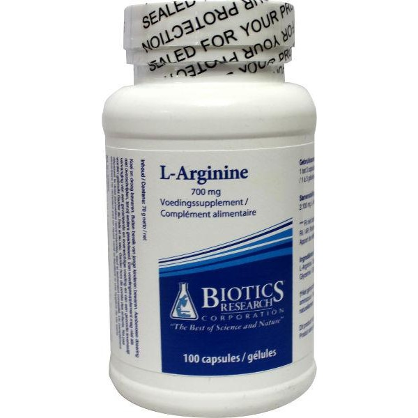 L-Arginine 700mg Biotics