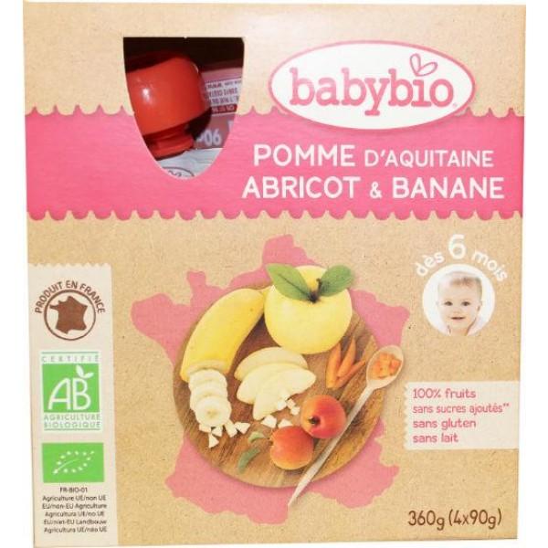 Vruchtenmoes appel abrikoos banaan