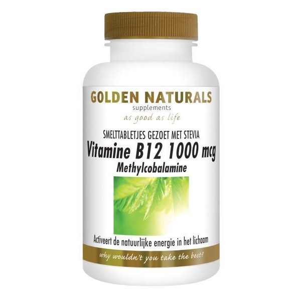 Vitamine B12 methylcobalamine Golden Naturals