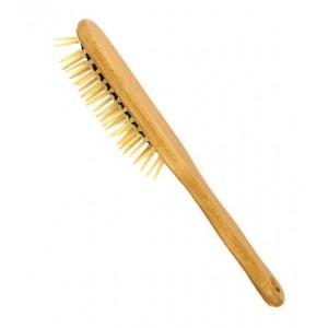Haarborstel punt hout noppen beukenhout ovaal