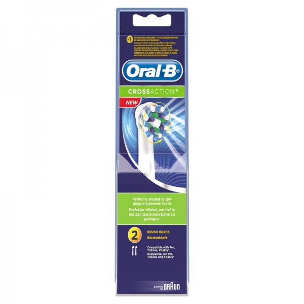 Opzetborstel EB50 cross action Oral B 2st (