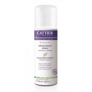 Deodorant spray cardamom patchouli Cattier