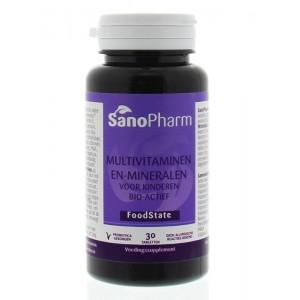 Kindermultivitaminen en mineralen foodstate Sanopharm