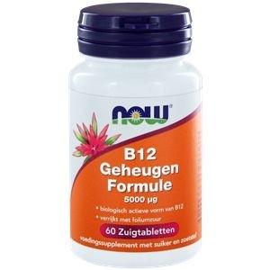 Vitamine B12 geheugenformule 5000 mcg NOW