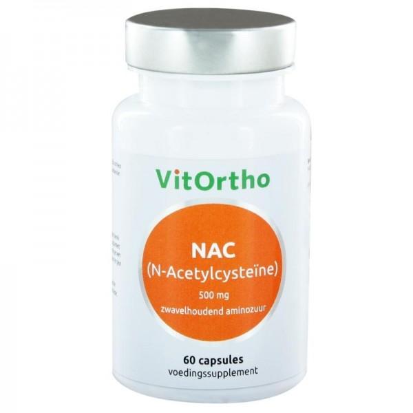 NAC N-Acetyl cysteine 500 mg Vitortho 60cap