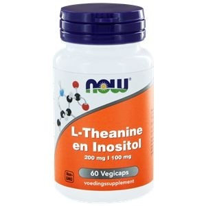 L-Theanine 200 mg met Inositol 100 mg NOW