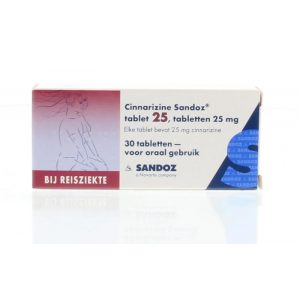 Cinnarazine 25 mg Sandoz