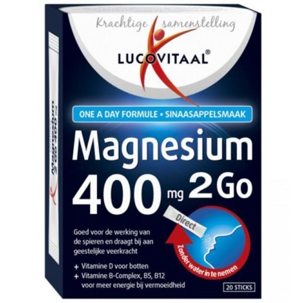 Magnesium 400 2go Lucovitaal 20sach