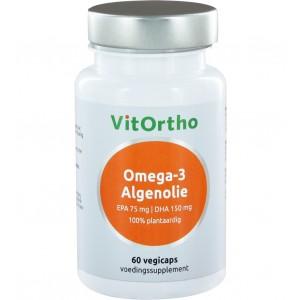 Vitortho omega-3 algenolie epa75mg dha 60sft