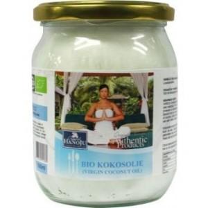 Kokosolie geurloos bio glasfles Hanoju