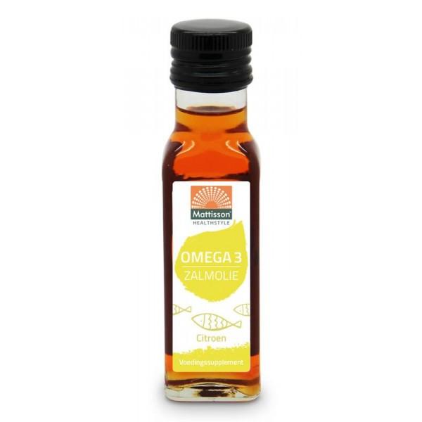 Omega-3 zalmolie citroen