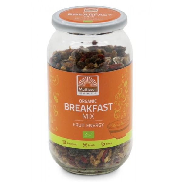 Organic breakfast mix fruit energy