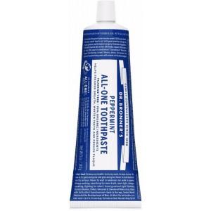 Tandpasta zonder fluor mint