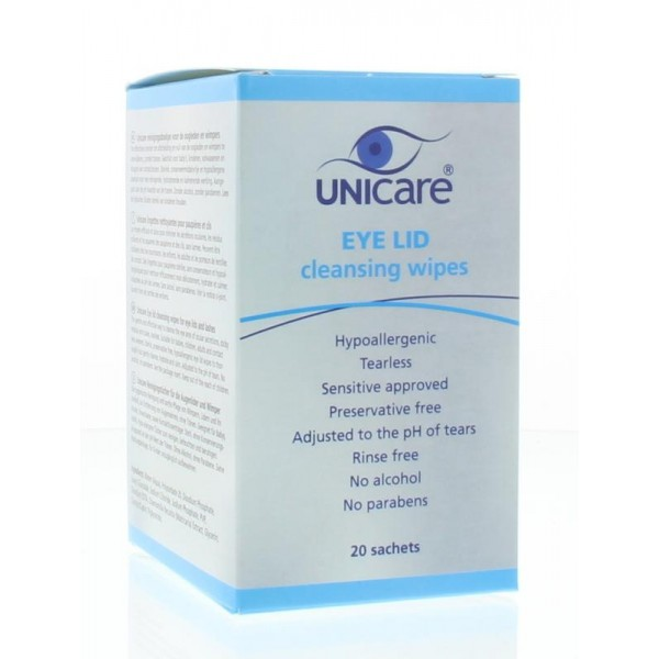 Eye lid cleansing wipes