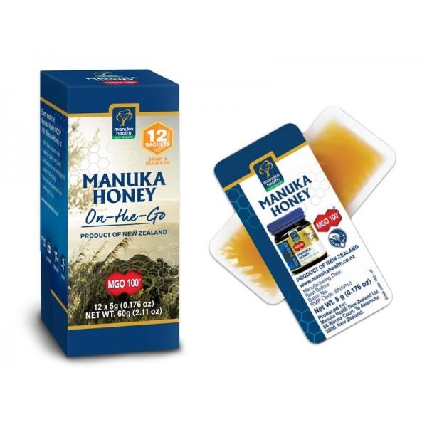 Manuka honing MGO100+ 12x5 gram