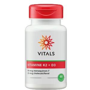 Vitamine K2 90 mcg Vitamine D 25 mcg Vitals 60ca